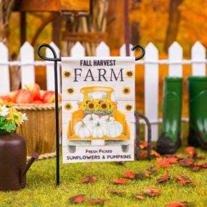 Fall Harvest Farm Garden Flag