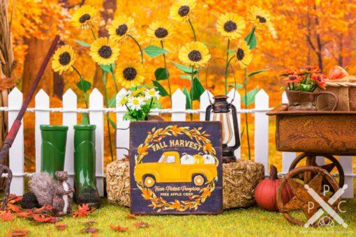 Dollhouse Miniature Fall Harvest Sign - Decorative Autumn Sign - 1:12 Dollhouse Miniature Decor