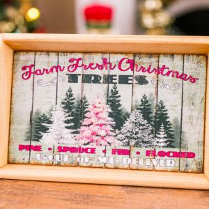 Farm Fresh Christmas Trees Wood Tray