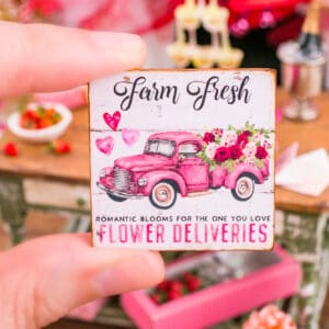 Farm Fresh Flower Deliveries Valentine's Day Sign