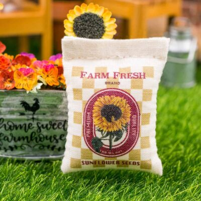 Dollhouse Miniature Farm Fresh Sunflower Seeds Bag - 1:12 Dollhouse Miniature Garden Decoration