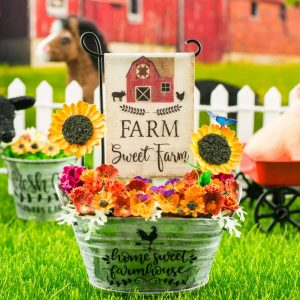 Farm Sweet Farm Barn Garden Flag