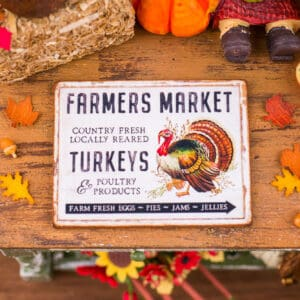 Farmers Market Turkeys Sign