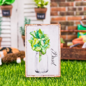 Farmhouse Basil Sign