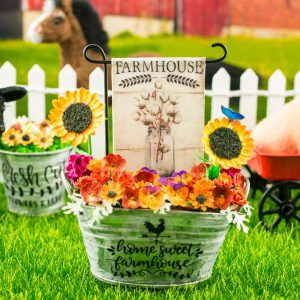 Farmhouse Cotton Bouquet Garden Flag