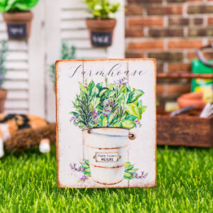 Farmhouse Fresh Picked Herbs Sign