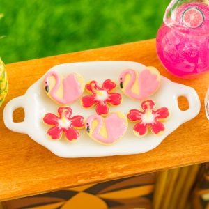 Flamingos and Hibiscus Flowers Cookies – Half Dozen