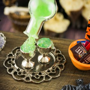 Halloween Magical Floating Witch's Potion Drink Set on Tray