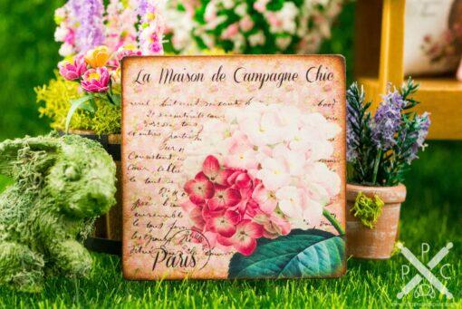 Dollhouse Miniature Hydrangeas French Floral Sign