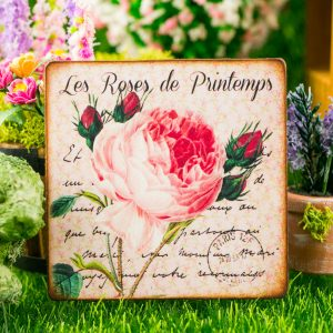 Roses French Floral Sign