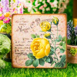 Yellow Roses French Floral Sign