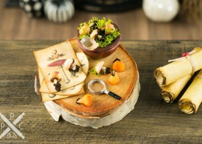 Rustic Foraged Mushrooms Apothecary Board