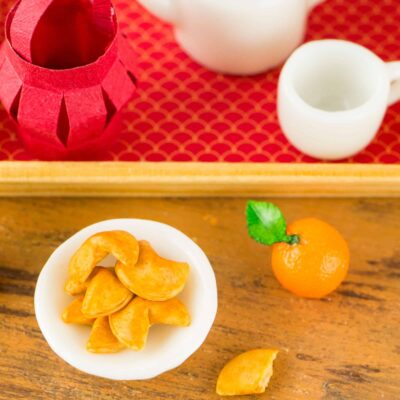 Dollhouse Miniature Fortune Cookies