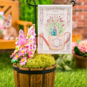 French Lavender Watering Can Spring Garden Flag