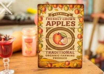 Freshly Grown Apples Sign
