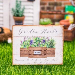 Garden Herbs Sign