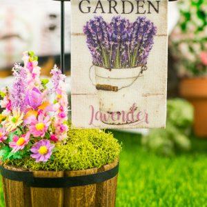 Garden Lavender Spring Garden Flag