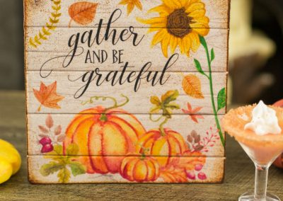 Gather and Be Grateful Sign – Decorative Autumn Sign