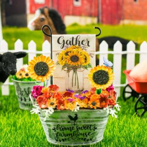 Gather Sunflower Bouquet Garden Flag