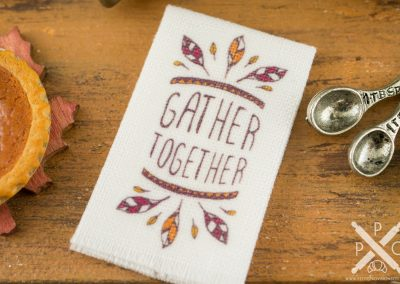 Gather Together Thanksgiving Tea Towel