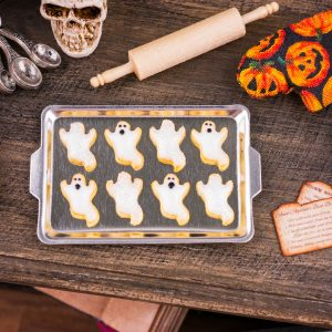 Ghost Cookies on Tray
