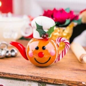 Gingerbread Man Teapot