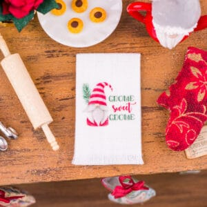 Gnome Sweet Gnome Christmas Tea Towel