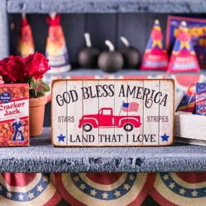 God Bless America 4th of July Sign