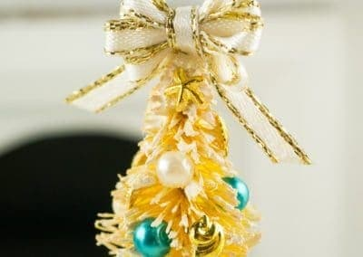 Gold and Teal Beach Themed Tabletop Tree