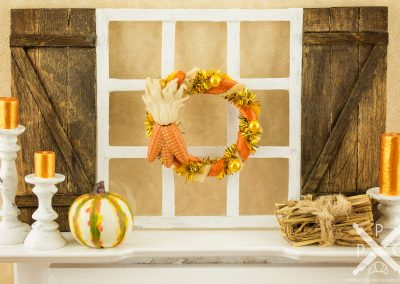 Golden Maize Autumn Wreath