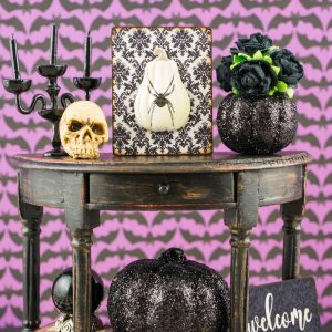 Gothic Glam Console Table – Halloween Half Circle Table