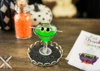 Spooky Halloween Martini on Tray