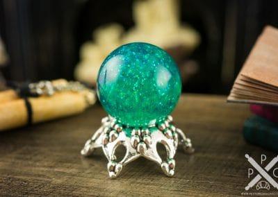 Green Galaxy Magical Crystal Ball