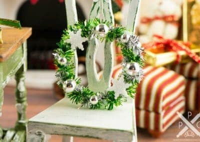 Green and Silver Snowflake Wreath