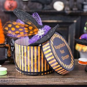 Hagatha's Hat Shoppe Witch Hat and Hat Box Set