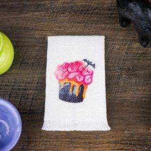 Halloween Batty Brain Cupcake Tea Towel