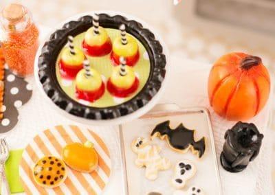 Halloween Cookies on Baking Sheet