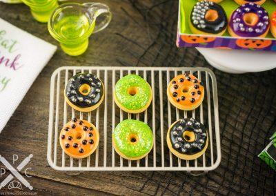 Halloween Doughnuts in Spiderweb Box – Half Dozen