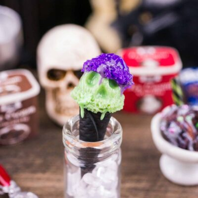 Dollhouse Miniature Halloween Ice Scream Cone - 1:12 Dollhouse Miniature Halloween Ice Cream