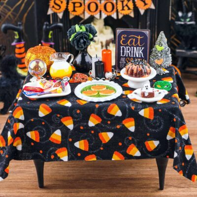 Dollhouse Miniature Halloween Party Table - 1:12 Dollhouse Miniature Halloween Decoration