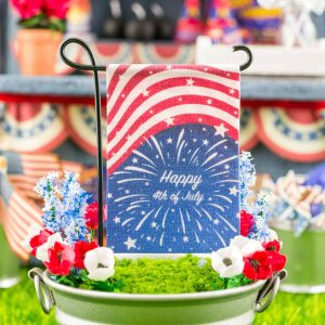 Happy 4th of July Fireworks Garden Flag