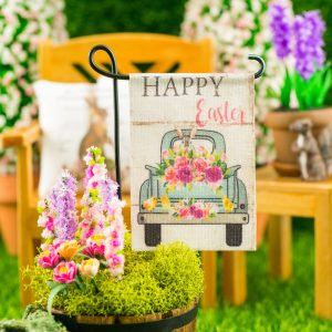Happy Easter Flower Truck Easter Garden Flag