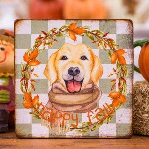 Happy Fall Labrador Sign