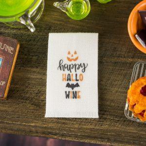 Happy Hallowine Tea Towel