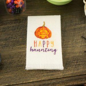 Happy Haunting Pumpkin Tea Towel