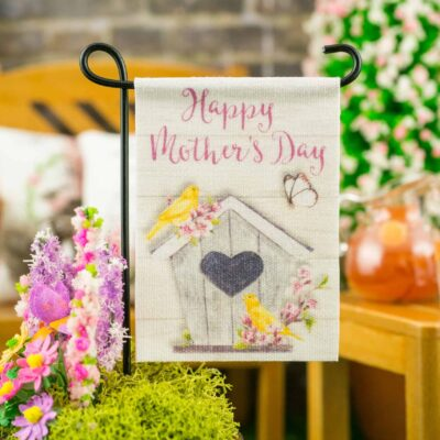 Dollhouse Miniature Happy Mother's Day Birdhouse Garden Flag