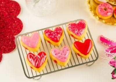Heart Shaped Valentine's Day Jelly Doughnuts – Half Dozen