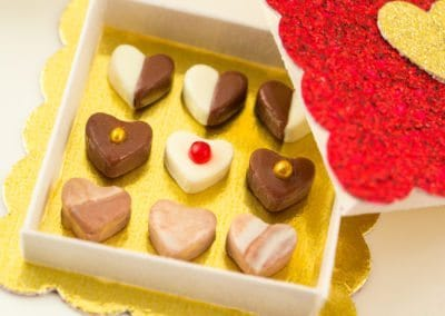 Valentine's Day Box of Heart Shaped Chocolates
