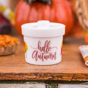 Decorative Autumn Canister – Assorted Designs