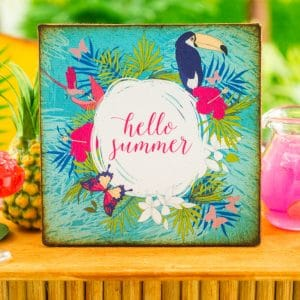 Hello Summer Toucan Sign